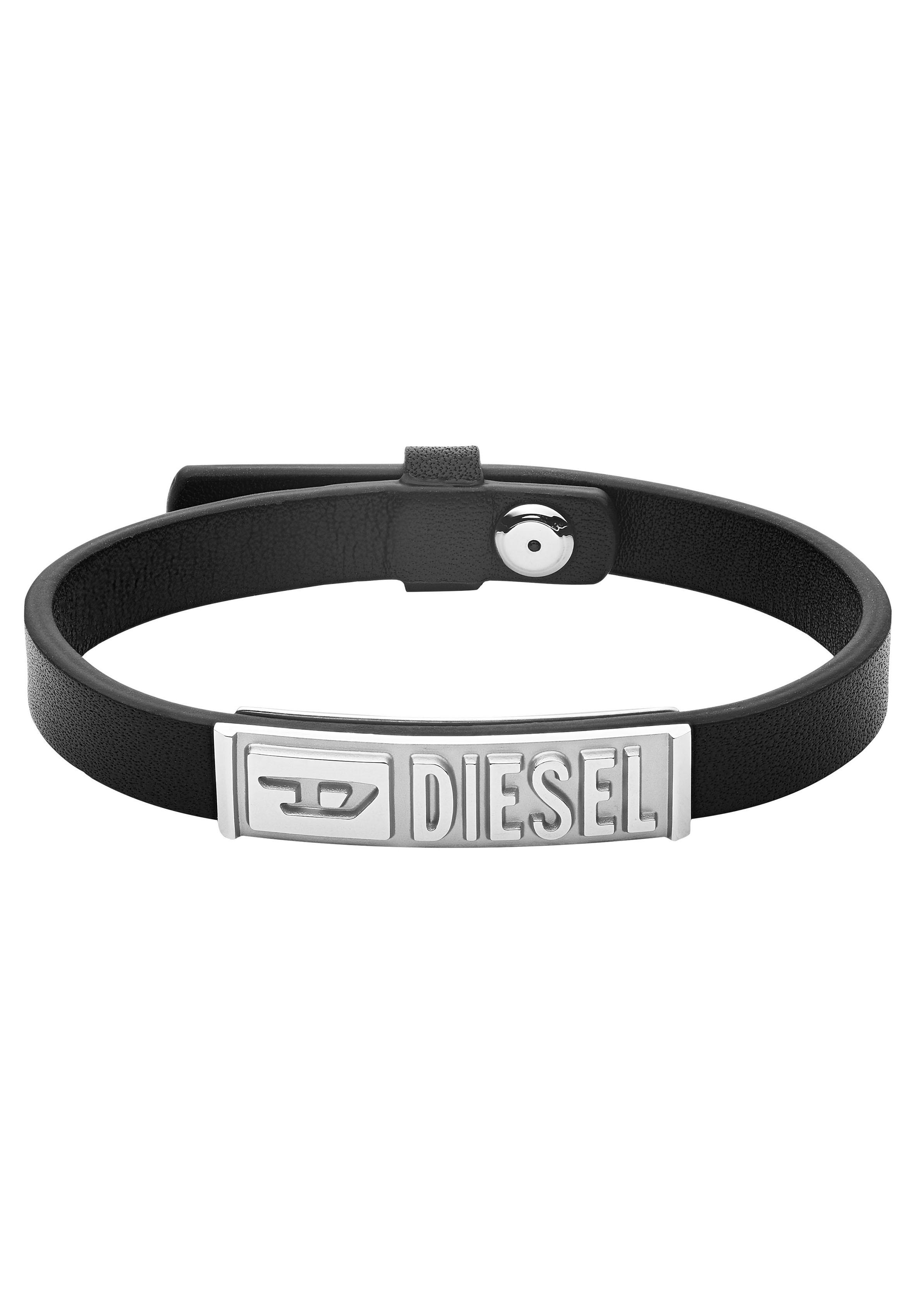 diesel -  Armband LEATHER/STEEL DX1226040