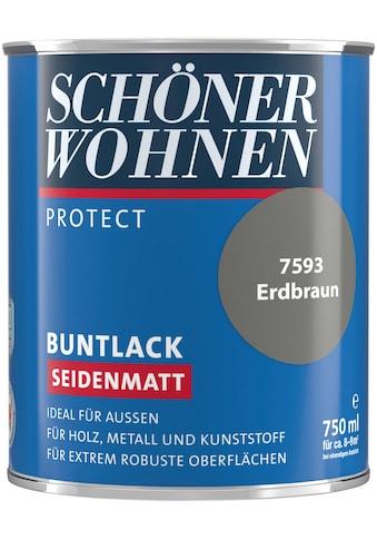 SCHÖNER WOHNEN-Kollektion Lack »Protect«, seidenmatt, 750 ml, erdbraun kaufen