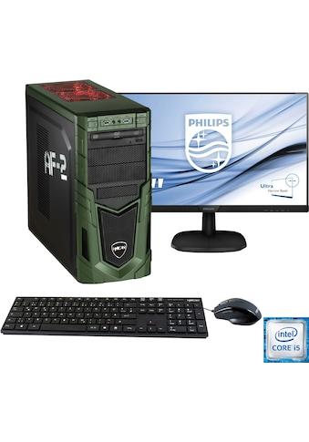 Hyrican PC-Komplettsystem »Military Gaming 6482 + Philips 243V7Q« kaufen