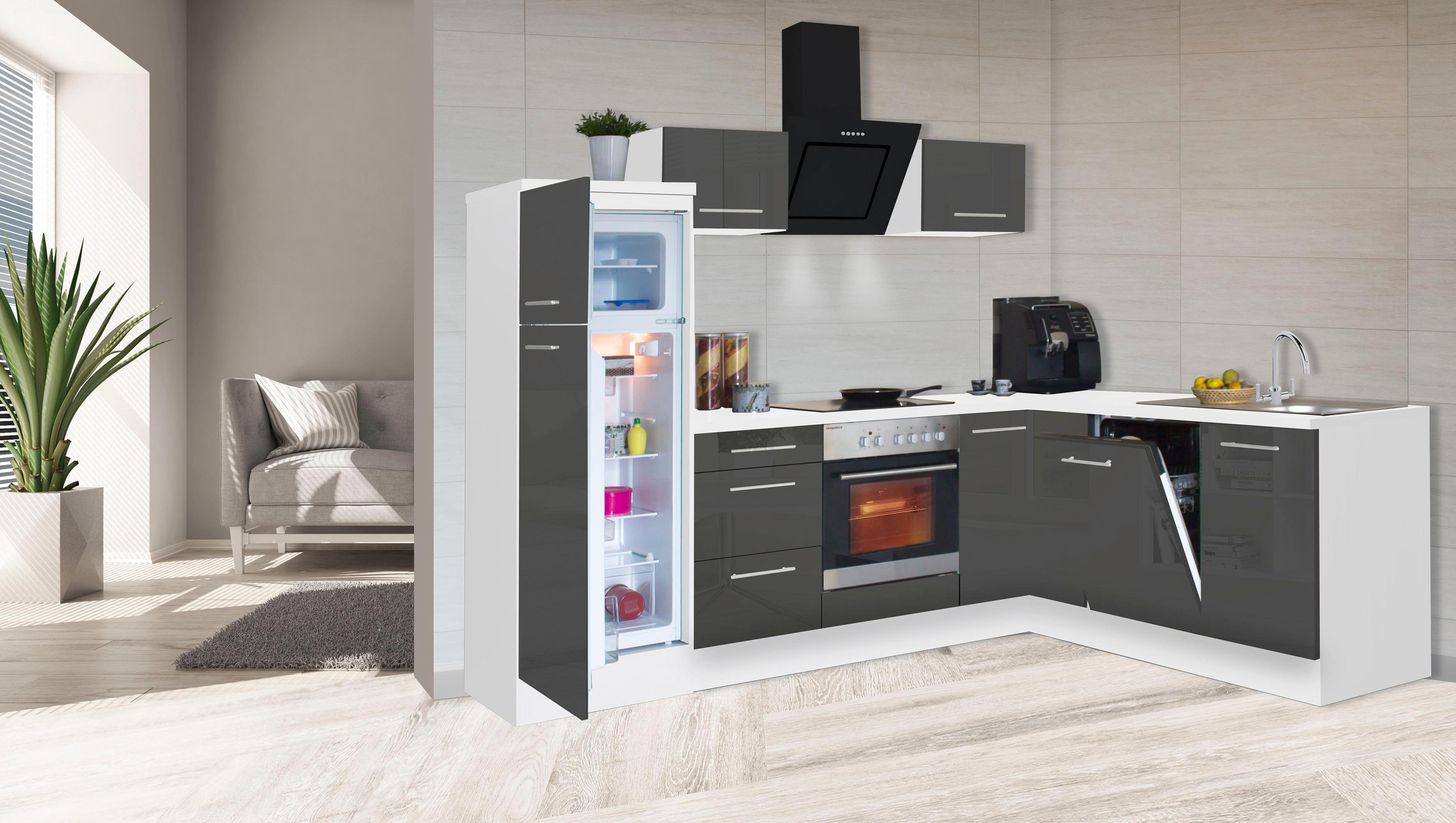RESPEKTA Winkelküche RP260 mit E-Geräten Breite 260 cm