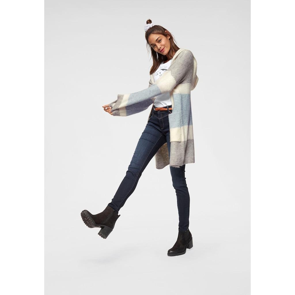Mavi Cardigan, im Streifen-Design mit Kapuze
