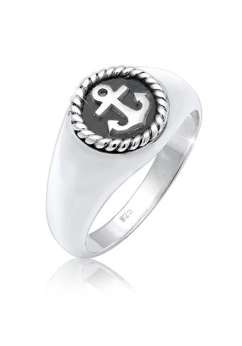 Kuzzoi Silberring »Siegelring Anker Anchor Maritim Oxid 925er Silber« kaufen