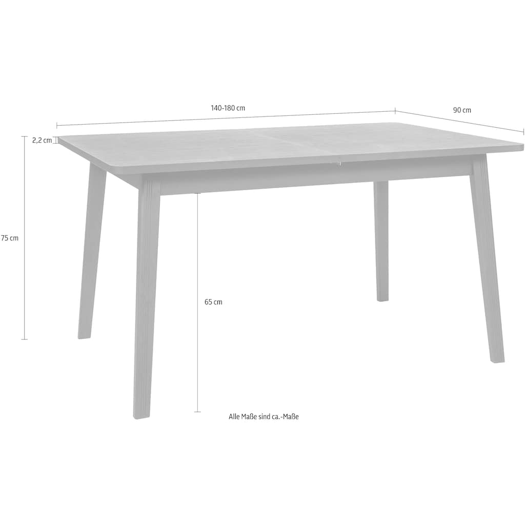 Woodman Esstisch, Breite 140 cm