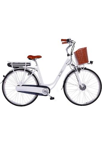 LLobe E-Bike »White Motion 2.0, 13,2Ah«, (mit Fahrradkorb) kaufen