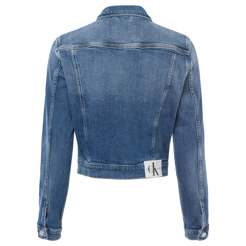 Calvin Klein Jeans Jeansjacke »CROPPED 90'S DENIM JACKET«, in verwaschener Optik