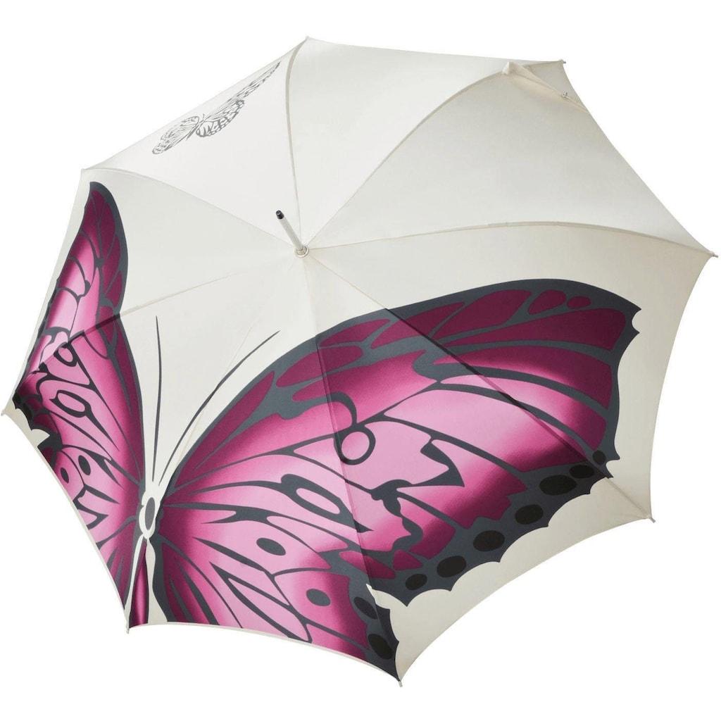 doppler MANUFAKTUR Stockregenschirm »Noblesse, butterfly«, handgemachter Manufaktur-Stockschirm