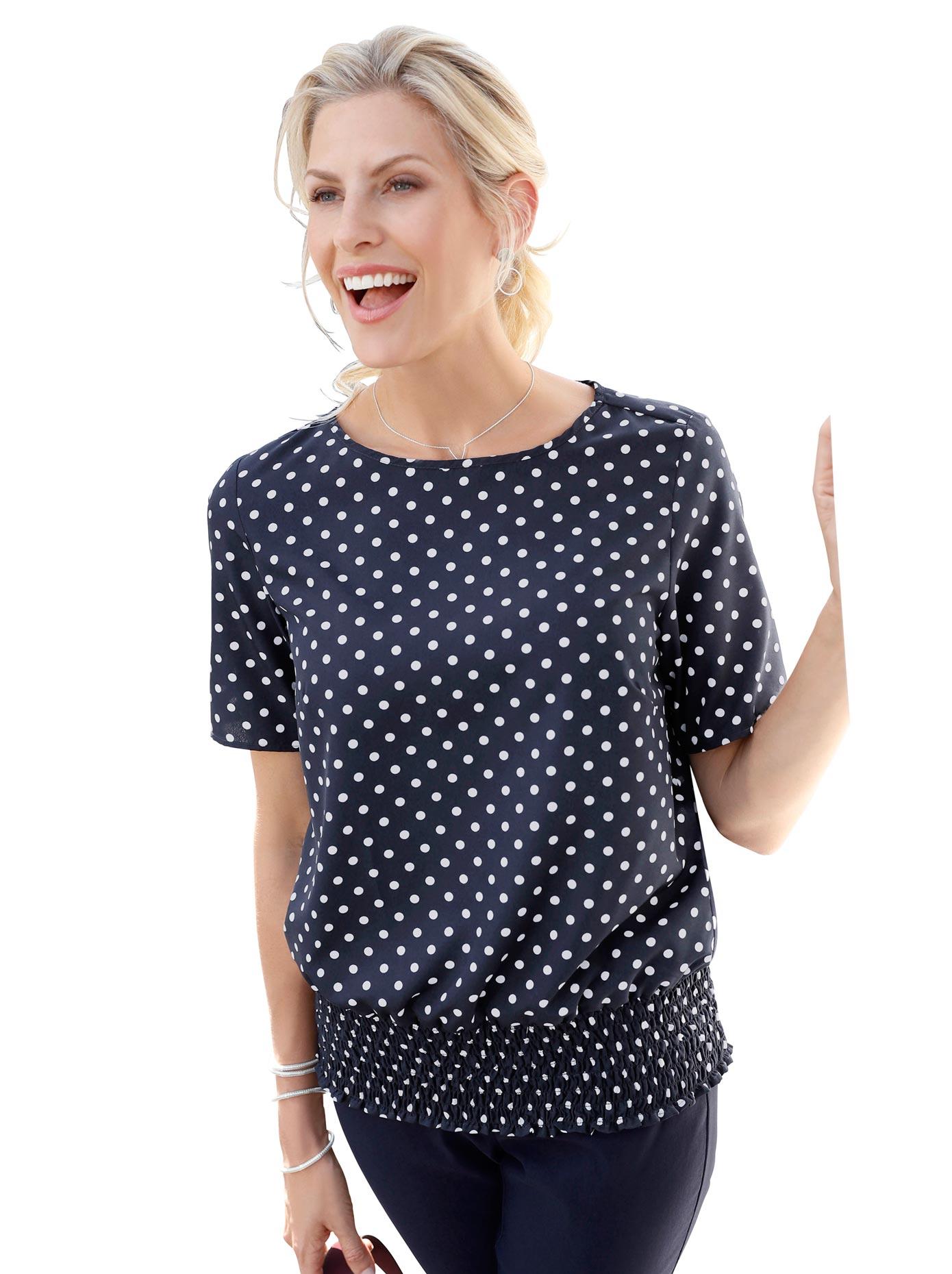 Classic Basics Bluse im hübschen Tupfen-Dessin