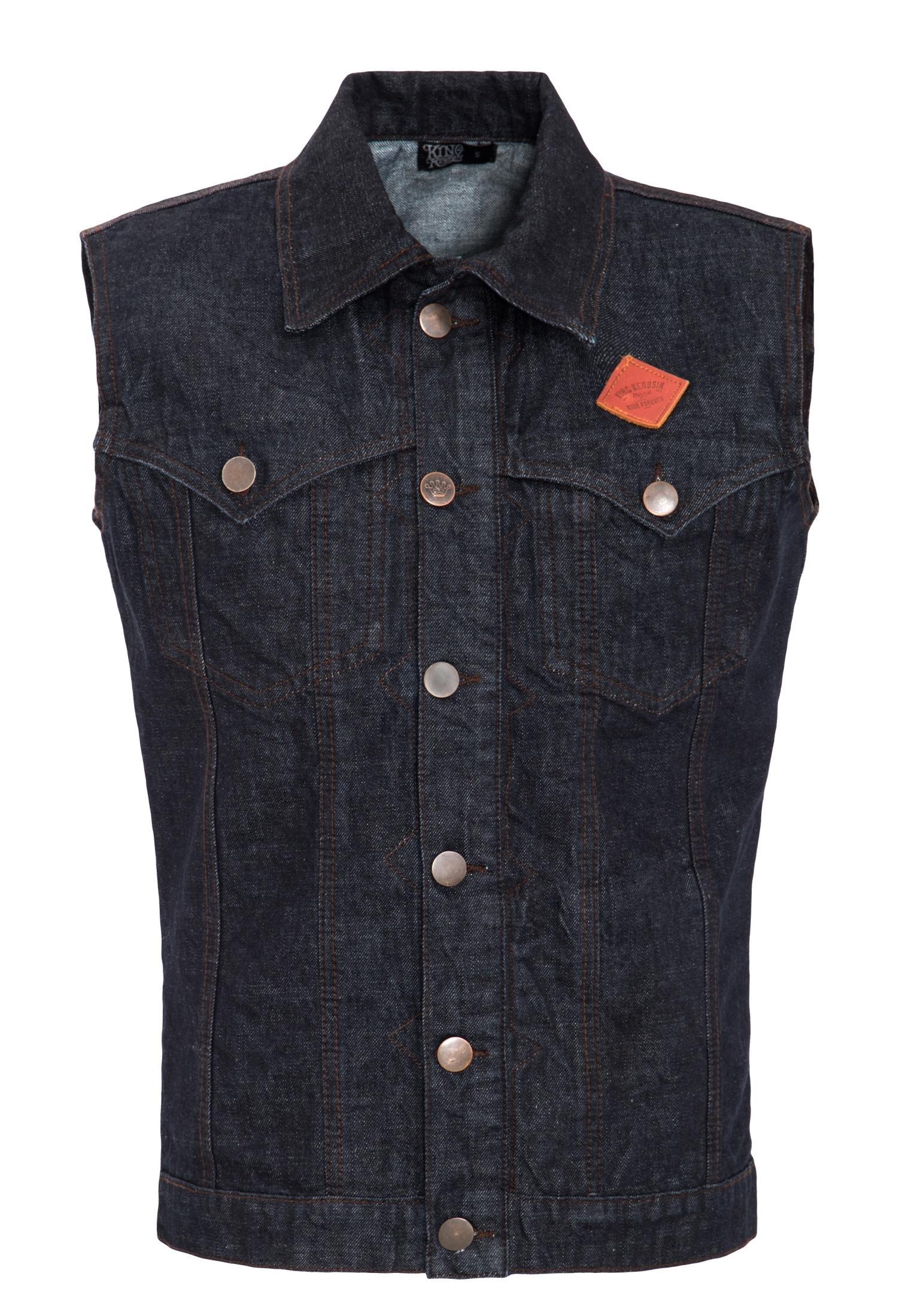 KingKerosin Jeansweste | Bekleidung > Westen > Jeanswesten | Kingkerosin