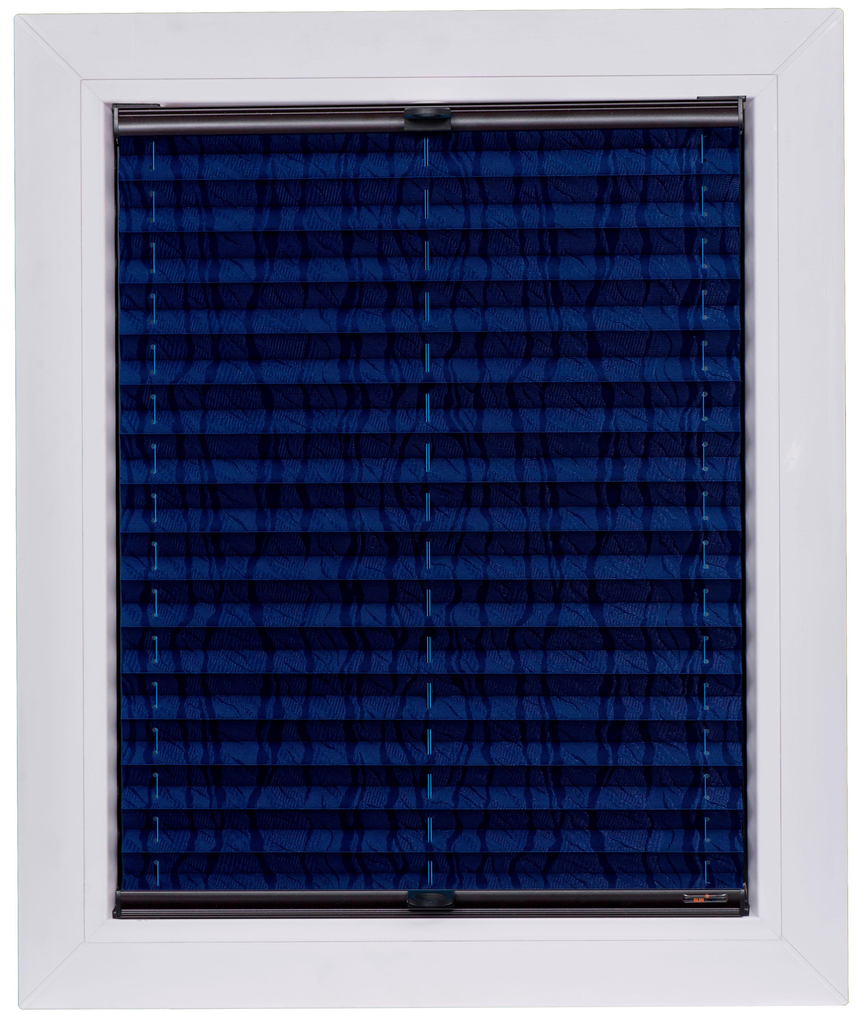 plissee nach ma blue line sunlines lichtschutz mit bohren verspannt auf rechnung baur. Black Bedroom Furniture Sets. Home Design Ideas