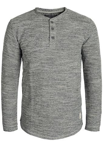 Indicode Sweatshirt »Cold«, Sweatpullover mit Knopfleiste kaufen