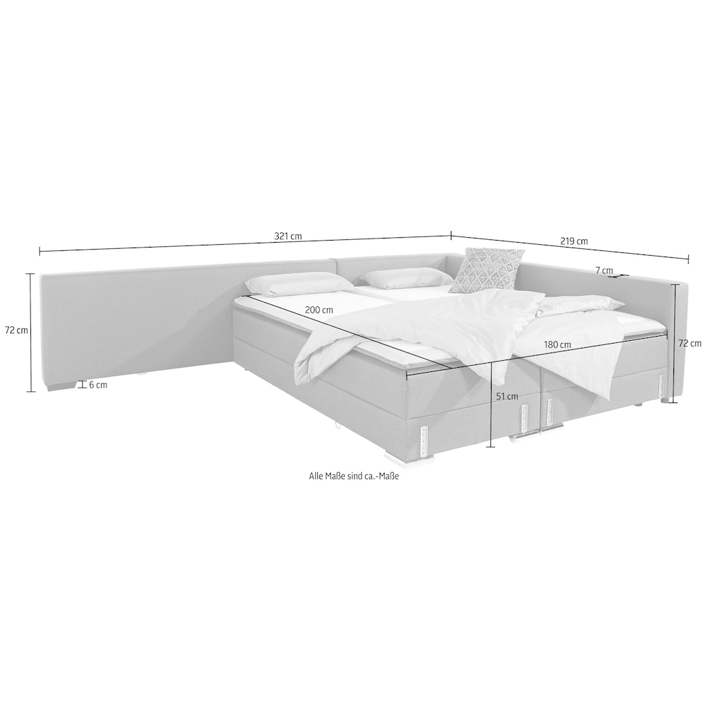 INOSIGN Ecksofa »Dream«, mit Federkern, mit Bettfunktion und Bettkasten