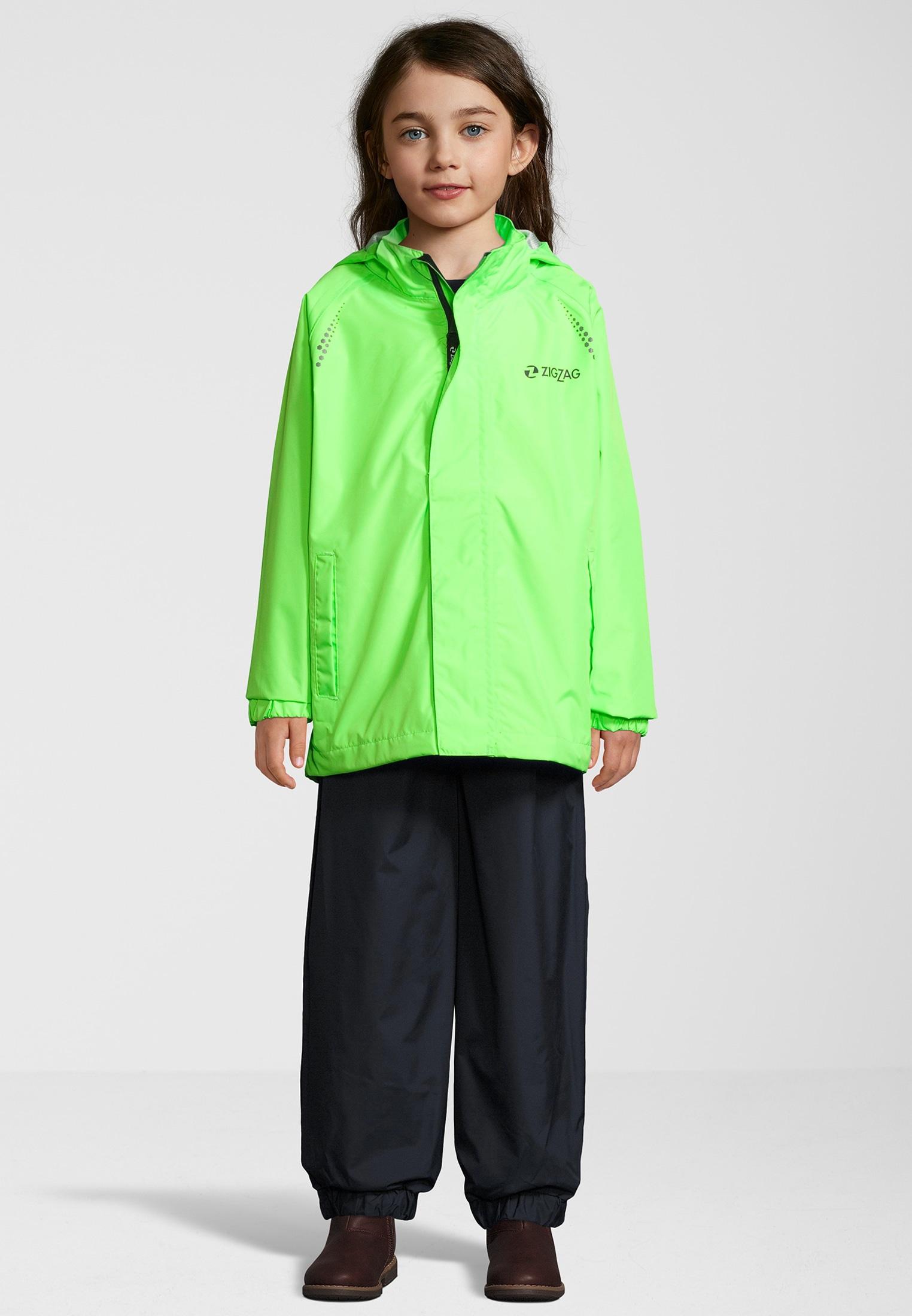 ZIGZAG Regenanzug Ophir W, W-PRO 10000 grün Kinder Regenanzüge Regenbekleidung Jungenkleidung 5712119010034