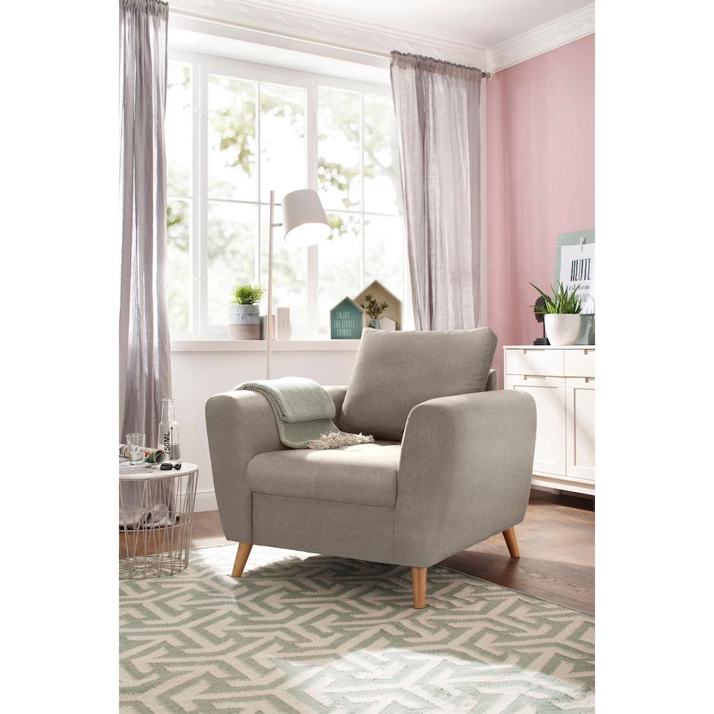 Home affaire Sessel »Penelope Luxus«, mit besonders hochwertiger Polsterung für bis zu 140 kg pro Sitzfläche