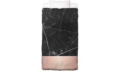 Bettwäsche »Black Marble Pink Edition«, Juniqe kaufen