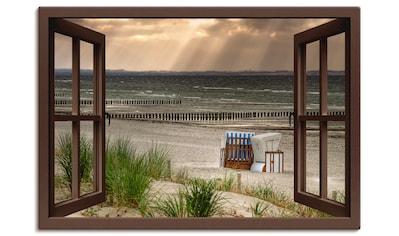 Artland Wandbild »Schwarzer Busch Strand auf Insel Poel«, Strand, (1 St.), in vielen... kaufen