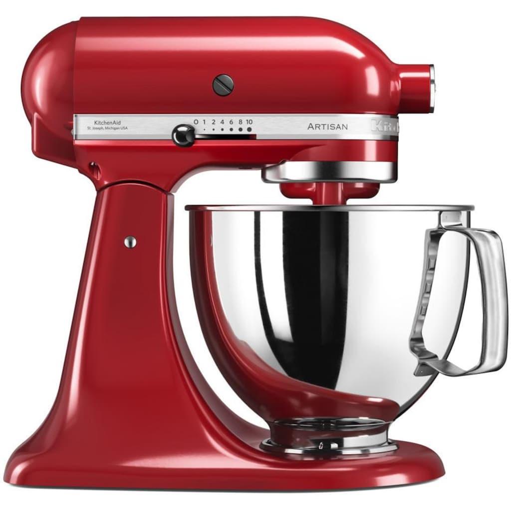 KitchenAid Küchenmaschine »Artisan 5KSM125EER«, 300 W, 4,8 l Schüssel, Empire Rot