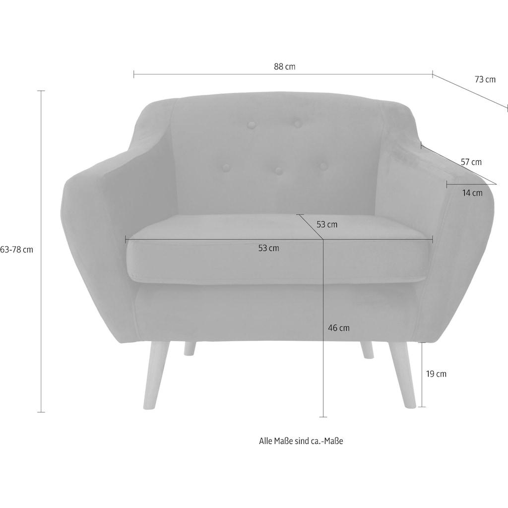 andas Sessel »Renne«, mit Heftung im Rücken im skandinavischem Stil