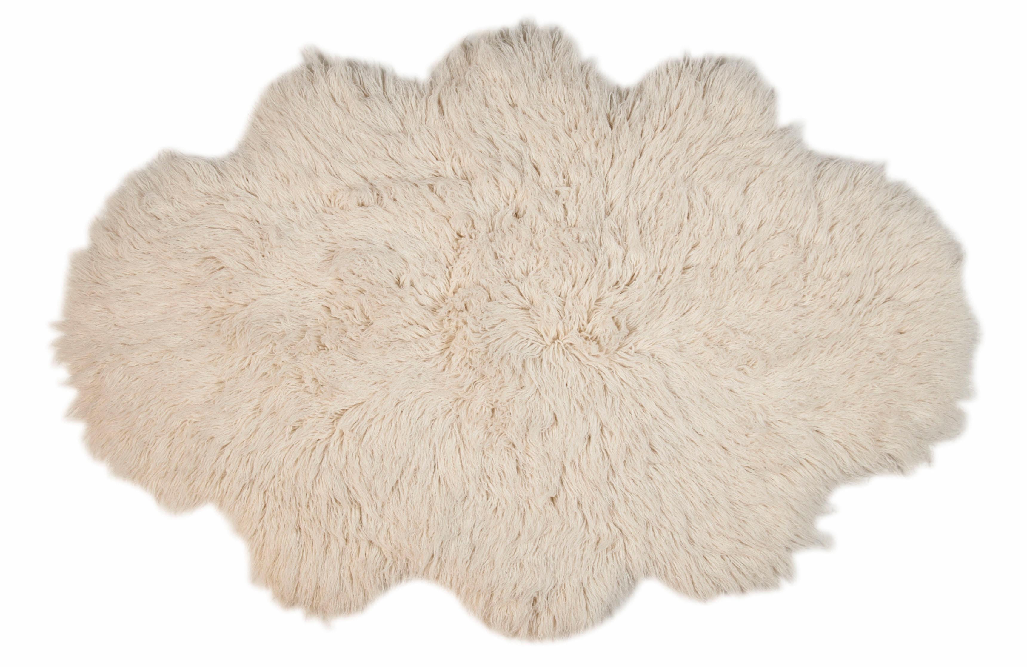 Hochflor-Teppich Flokos 2 Theko Exklusiv wolkenförmig Höhe 62 mm handgewebt