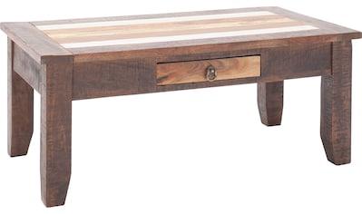 MCA living Couchtisch »Frombork«, Vintage Akazie Massivholz,Tischplatte in Boatwood,... kaufen