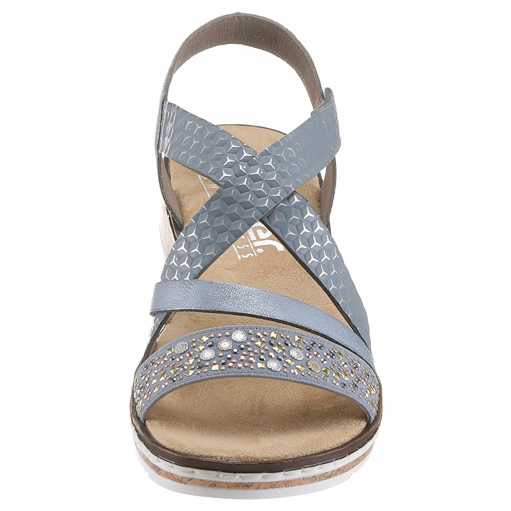 Rieker Sandalette, mit kleinem Stretcheinsatz
