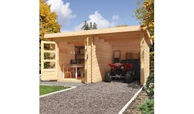 KONIFERA Set: Gartenhaus »Schloßsee 2«, BxT: 454x273 cm, mit Anbau inkl. Seiten -  und Rückwand kaufen
