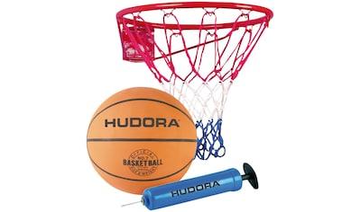Basketballkorb »Hudora Slam It«, (Set, 3 St., Basketballkorb mit Ball und Pumpe) kaufen