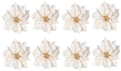 Creativ deco Weihnachtsbaumklammer, (Set, 8 tlg.), Blüten mit Clip zum Befestigen kaufen