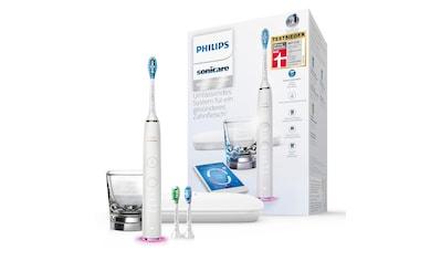 Philips Sonicare Elektrische Zahnbürste »HX9903/03«, 3 St. Aufsteckbürsten, DiamondClean Smart Schallzahnbürste, mit Ladeglas und Reiseetui kaufen