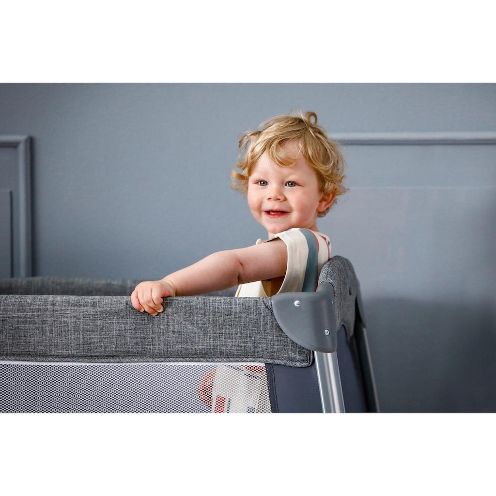 Hauck Baby-Reisebett »Play n Relax Center - Melange Grey«, inkl. Transporttasche