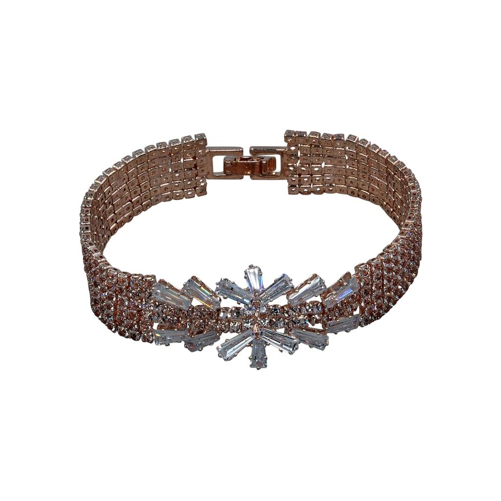 J.Jayz Armband »in Glamour-Optik, mehrreihig«, mit Glassteinen