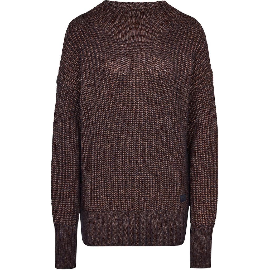 G-Star RAW Strickpullover »Viisi Mock Loose Knit Pullover«, mit angedeuteten Stehkragen und Bündchen in Ripp-Optik
