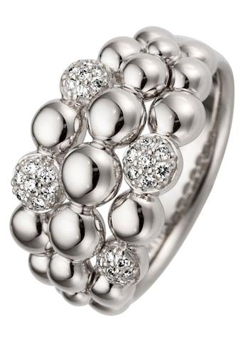 JOBO Fingerring, 585 Weißgold mit 28 Diamanten kaufen