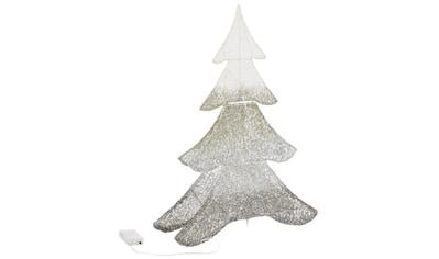 LED Dekoobjekt »Glitzer-Tanne«, Warmweiß, mit Glitzerfäden kaufen