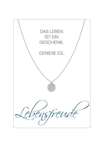 HERZ - KARTE Silberkette »Lebensfreude« kaufen