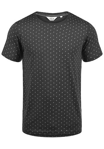 Solid Rundhalsshirt »Aaron«, Kurzarmshirt mit All-Over Print kaufen