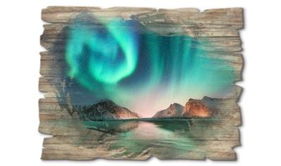 Artland Holzbild »Auroraborialis  -  Nördliches Polarlicht« kaufen
