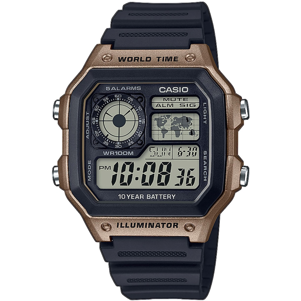Casio Collection Chronograph »AE-1200WH-5AVEF«