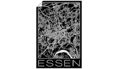 Artland Wandbild »Retro Karte Essen Deutschland Schwarz« kaufen