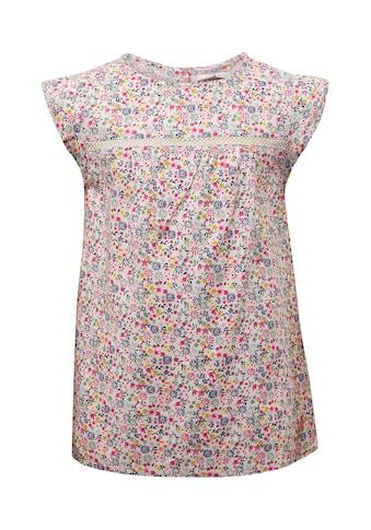 TOM TAILOR Shirtbluse »Gemusterte Bluse mit Spitze« kaufen