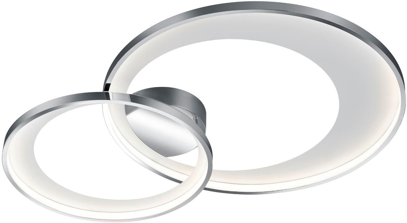 TRIO Leuchten LED Deckenleuchte Granada, LED-Board, 1 St., Warmweiß, LED Deckenlampe, Switch Dimmer
