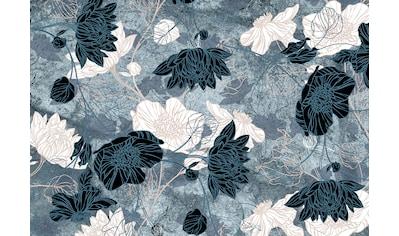 Consalnet Papiertapete »Türkiser Blumen Mix«, floral kaufen