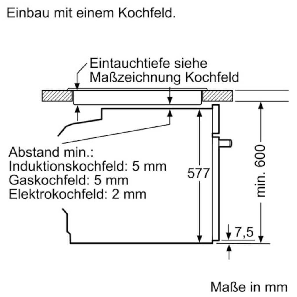 NEFF Einbaubackofen »B45CR20N0«, N 70, B45CR20N0, mit Teleskopauszug nachrüstbar, easyClean, Slide and Hide® - die voll versenkbare Backofentür
