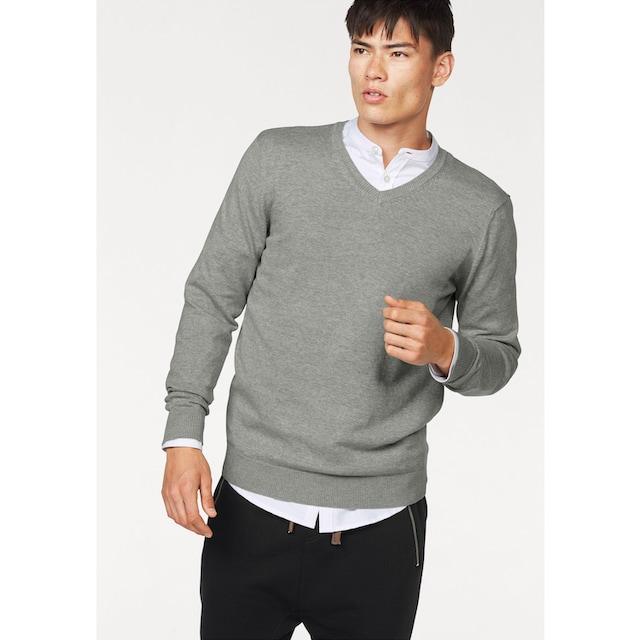 John Devin V-Ausschnitt-Pullover