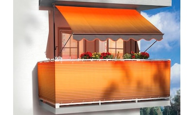 Angerer Freizeitmöbel Balkonsichtschutz, Meterware, orange-braun, H: 75 cm kaufen