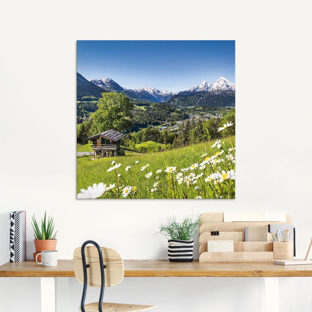 Artland Glasbild »Landschaft in den Bayerischen Alpen«, Berge, (3 St.)