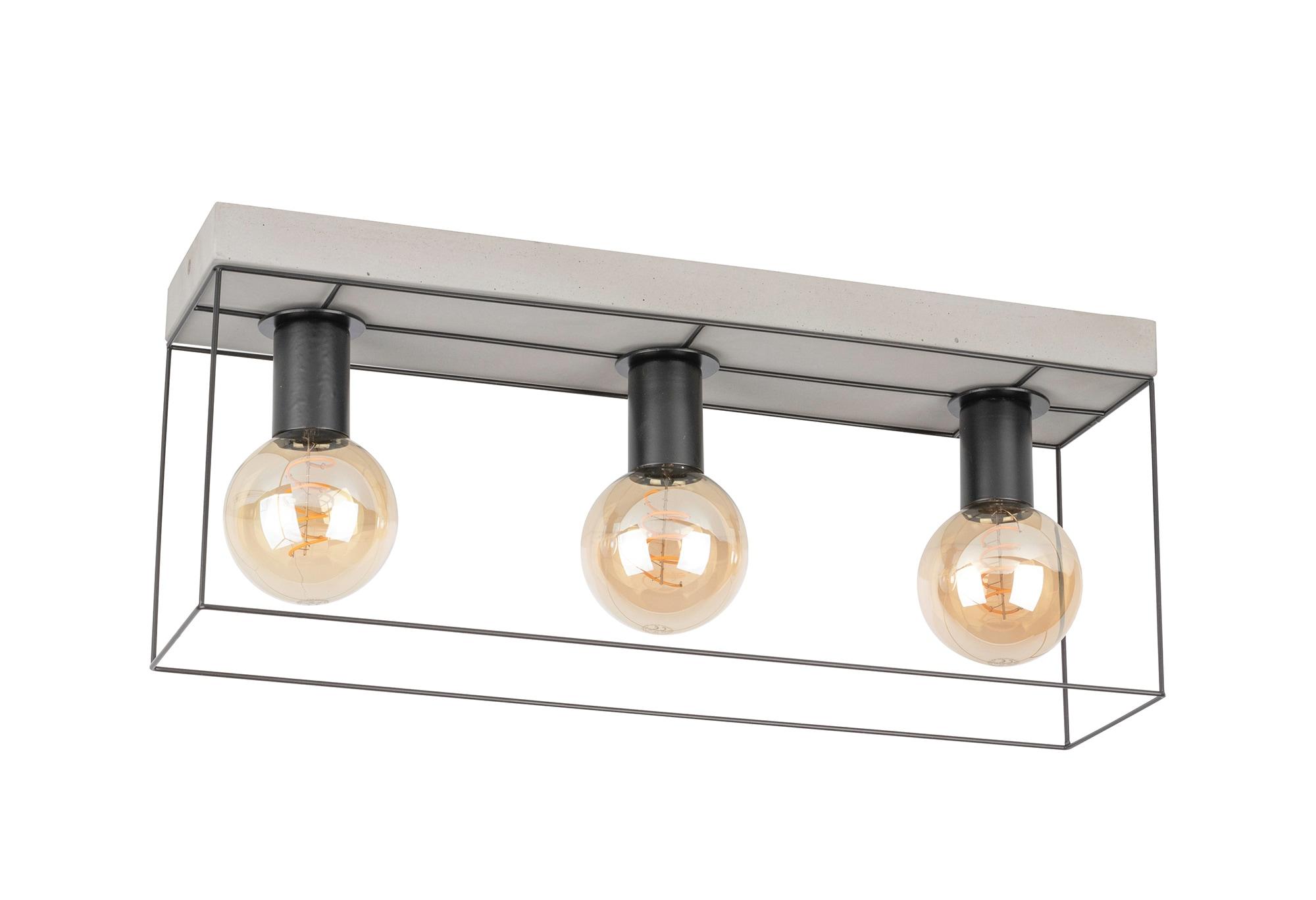 SPOT Light Deckenleuchte GRETTER CONCRETE, E27, Aus echtem Beton und Metall, passende LM E27 / exklusive, Naturprodukt Made in Europe