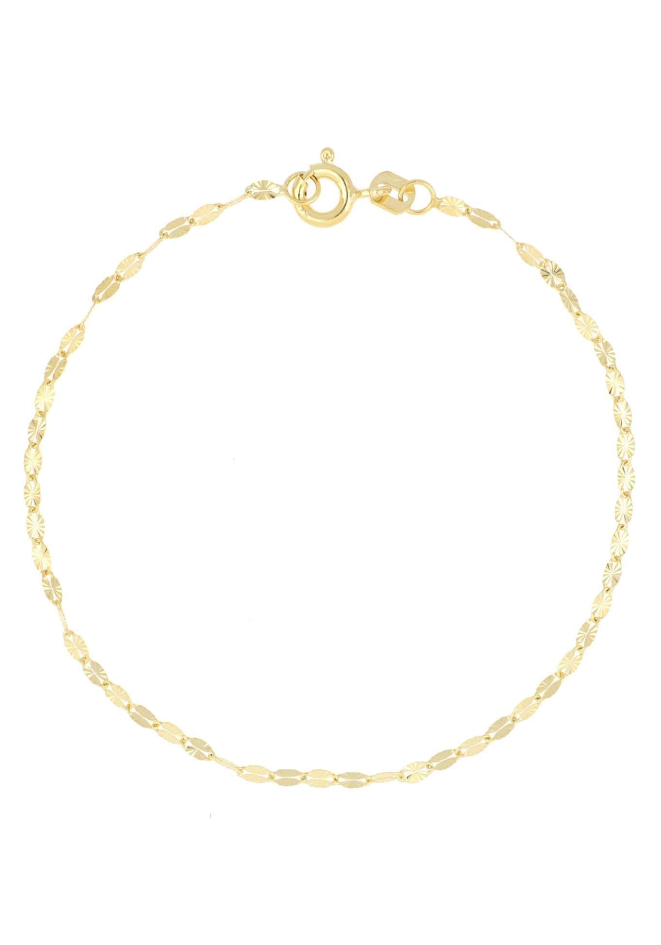 Firetti Goldarmband in Plättchenkettengliederung, 2,0 mm breit, sterndiamantiert