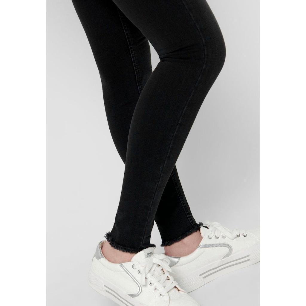 Only Ankle-Jeans »ONLBLUSH LIFE«, mit fransigen Säumen
