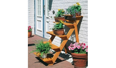 Promadino Rahmenholz »Blumentreppe groß« B/T/H: 78/100/109 cm kaufen