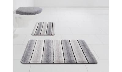 Home affaire Badematte »Stripes«, Höhe 7 mm, Besonders weich durch Mikrofaser kaufen